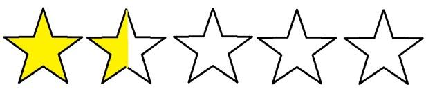 1 and half star